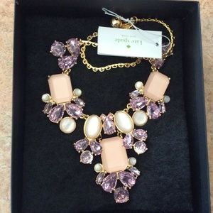 NWT Kate Spade Glitzy Spritz Statement Necklace